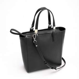 Royce Leather RFID Blocking Women's Saffiano Leather Mini Tote Cross Body Bag