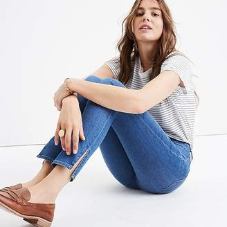 "J.Crew Madewell 9"" high-rise skinny jean in bonita wash: side-slit edition"