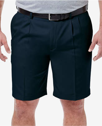 "Haggar Men Big & Tall Cool 18 Pro Classic-Fit Stretch Pleated 9.5"" Shorts"