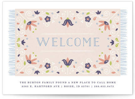 Welcome Mat Moving Announcement Custom Selflaunch Stationery