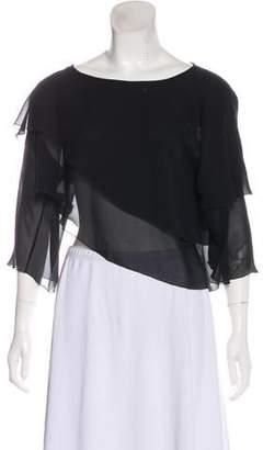 Armani Collezioni Semi-Sheer Silk Blouse