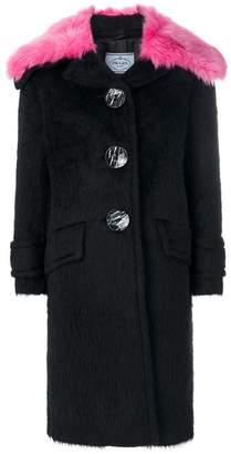 Prada oversized collar coat