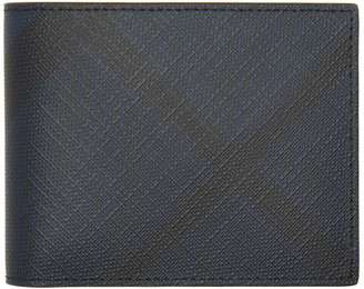 Burberry Navy London Check Hipfold Wallet $295 thestylecure.com