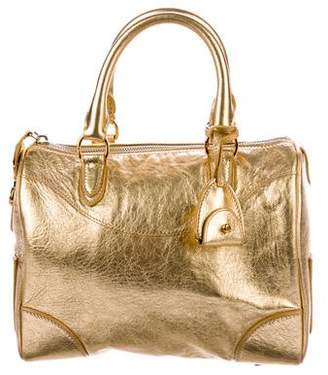 Ralph Lauren Metallic Bowler Bag