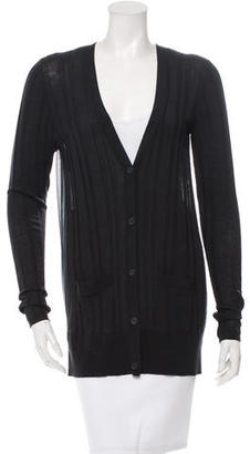 Vera Wang Silk-Back Wool Cardigan $95 thestylecure.com