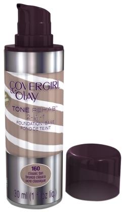 Olay CoverGirl & Tone Rehab 2 in 1 Liquid Foundation Classic Tan