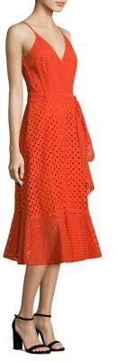 Trina Turk Eyelet Cotton Wrap Dress $348 thestylecure.com