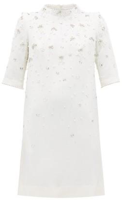 Goat Alexa Crystal Embellished Wool Dress - Womens - White