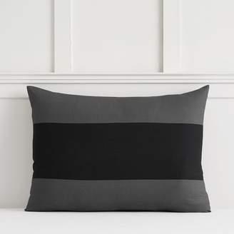 Pottery Barn Teen Bold Rugby Stripe Sham, Standard, Black/Gray