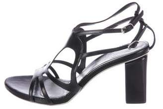 CNC Costume National Leather Cage Sandals