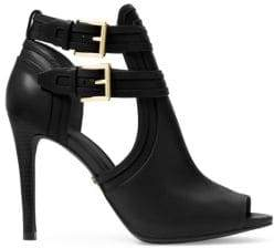 MICHAEL Michael Kors Blaze Peep-Toe Leather Booties