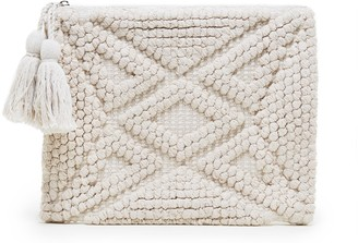 Palisades Woven Pattern Pouch w/ Tassels $54.95 thestylecure.com