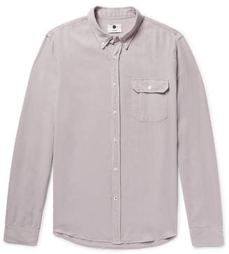 NN07 - Liam Button-down Collar Lyocell And Linen-blend Twill Shirt - Lavender