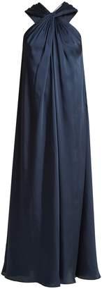 Elizabeth and James Cavan twisted sleeveless draped twill dress