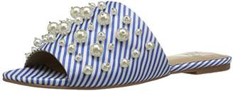 Amazon Brand - The Fix Women's Faris Flat Slide Sandal with Pearls