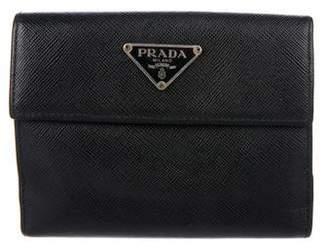 Prada Saffiano French Purse Wallet