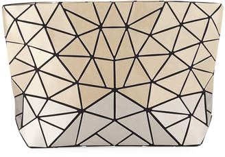 Patrizia Luca Two-Tone Slanted Triangle Clutch Bag