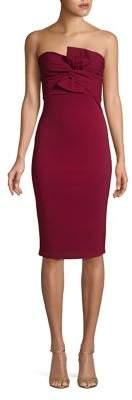 Quiz Twisted Strapless Sheath Dress