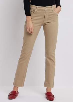 Emporio Armani Regular-Fit J60 Jeans In Bull-Stretch, Garment-Dyed Denim
