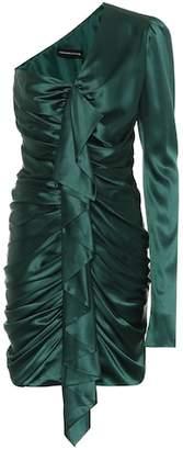 Alexandre Vauthier Stretch silk one-shoulder minidress