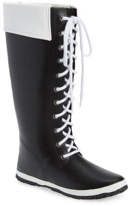 dav Lace-Up Rain Boot