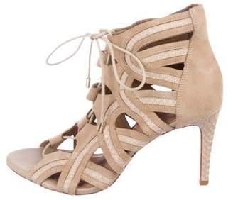 Joie Lace-Up Cage Sandals