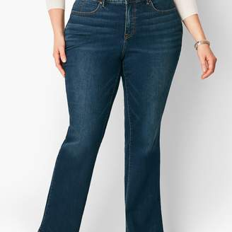 Talbots Plus Size High-Waist Barely Boot Jean - Pioneer Wash/Curvy Fit