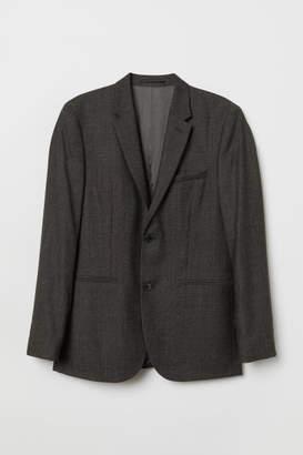 H&M Slim Fit Wool Blazer - Black