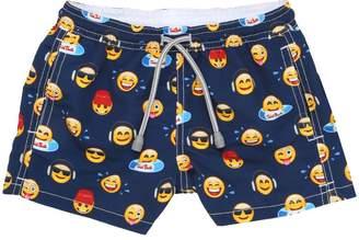 MC2 Saint Barth Emoji Print Nylon Swim Shorts