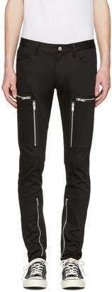 Undercover Black Zipper Pocket Trousers $530 thestylecure.com