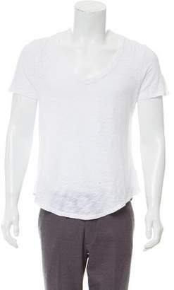 ATM Anthony Thomas Melillo Distressed Scoop Neck T-Shirt