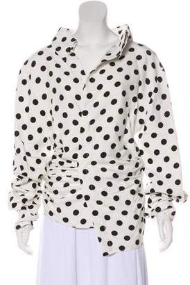 Jacquemus Polka Dot Long Sleeve Top