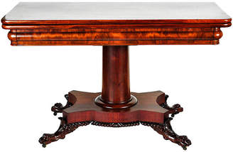 One Kings Lane Vintage Antique Mahogany Folding Table - La Maison Supreme