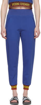 Opening Ceremony Blue Elastic Logo Lounge Pants