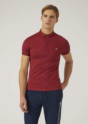 Emporio Armani Polo Shirt In Cotton Jersey With Patch