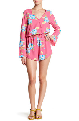 Mimi Chica Bell Sleeve Floral Romper $42 thestylecure.com