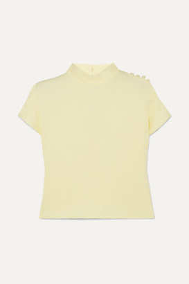 Les Héroïnes The Tammie Washed-crepe Top