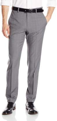 Haggar Men's Repreve Eclo Stretch Heathered Plaid Slim Fit Plain Front Dress Pant