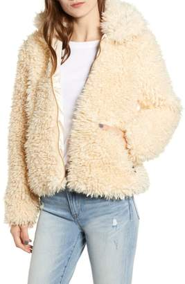 Obey Shay Faux Fur Bomber Jacket