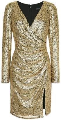 Tadashi Shoji wrapped front dress