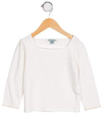 Papo d'Anjo Girls' Embroidered Lightweight Top