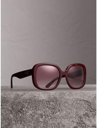 30ce2307cb at Burberry · Burberry Square Frame Sunglasses