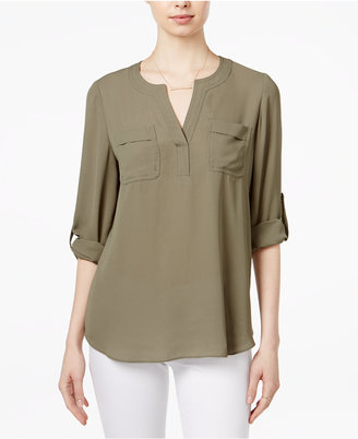 Maison Jules Utility Blouse, Only at Macy's $59.50 thestylecure.com