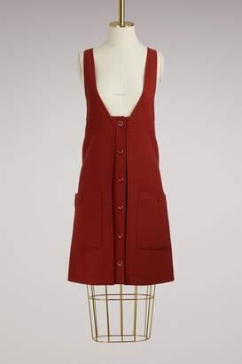 Chloé Buttoned Wool Mini Dress