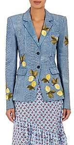 Altuzarra Women's Deming Python Jacket - Blue