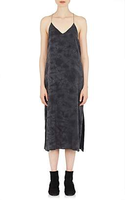 Amiri Women's Tie-Dyed Washed Silk Satin Slipdress
