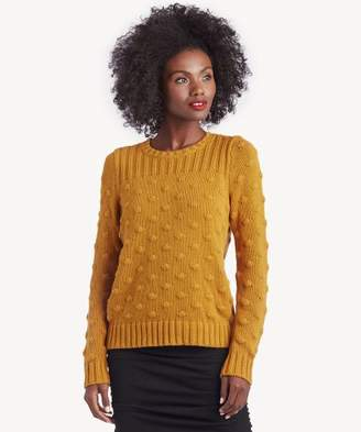 Sole Society LS Rib and Popcorn Stitch Sweater