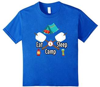 Eat Sleep Camp T-Shirt Funny Camping Glamping Tent Shirt