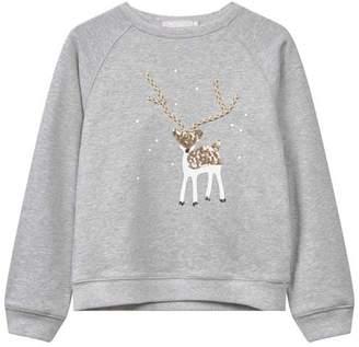 Mint Velvet Grey Reindeer Sweatshirt