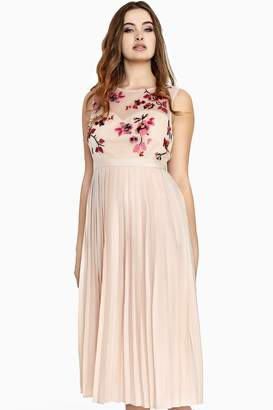 Embroidered Midaxi Dress